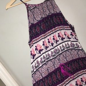 Dresses & Skirts - Printed purple romper!